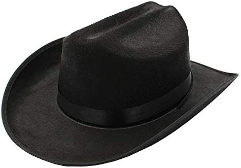 Cowboy Hat Western Hat Dress Up Costume Clothes for Kids Pretend Play Party Favors Black Cowboy product image