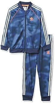 adidas Originals,unisex-baby,SST Set,Top Crew Blue/Multicolor/Solar Red Bottom Crew Blue/Multicolor,9M