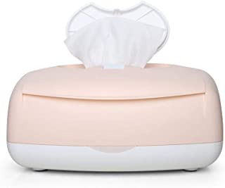 ZOUJUN Wipes heater Portable Charging Baby Large Capacity Wipes Dispenser Travel Child Wipe Warmer and Baby Wet Wipes Box Top Heating All Day Constant Temperature Non-slip Color: pink