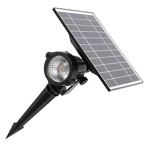 zcyg Lámpara solar, 10 W lámpara de césped IP65 energía solar al aire libre luz jardín patio paisaje decoración