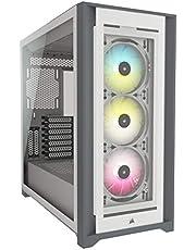 CORSAIR iCUE 5000X RGB ミドルタワー ATX ケース、ホワイト CC-9011213-WW