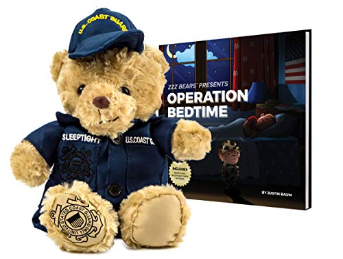 ZZZ Bears Military, Police and Fireman Teddy Bears Plush Toys to Honor, Protect and Cuddle at Bedtime (Coast Guard Uniform)