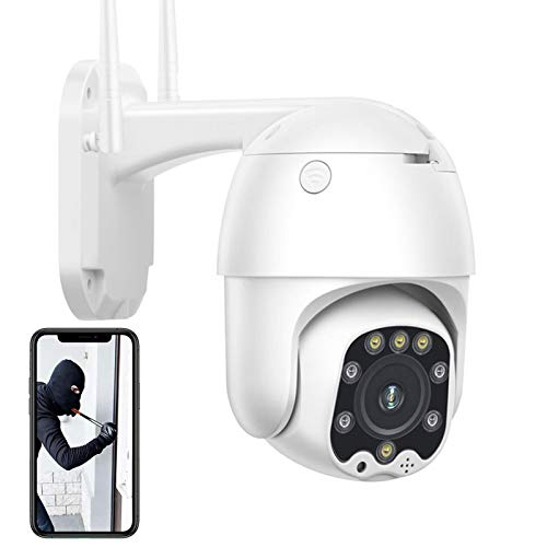 Cámara IP de vigilancia para exteriores,Cámara 4G SIM 1080P,cámara de seguridad CCTV PTZ,visión nocturna,detección de movimiento,control remoto,alarma,IP66 impermeable (Cámara+tarjeta TF de 64G)