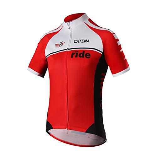 CATENA Abbigliamento Ciclismo Uomo Maglia Manica Corta Magliette MTB Traspirante Bici Jersey Asciugatura Veloce Maglietta