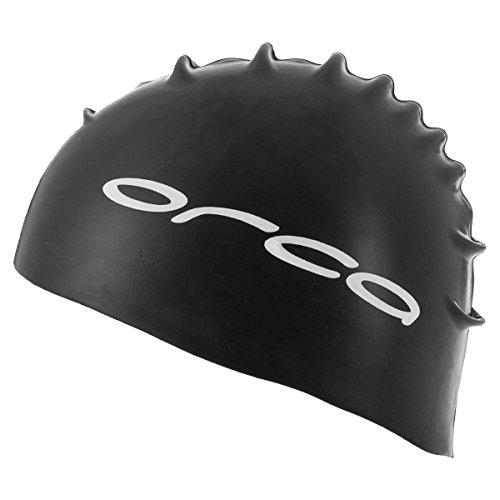 Orca Silicone Swimcap Triathlon Equipamiento Gorras de Natación Negro, Negro, Talla Única