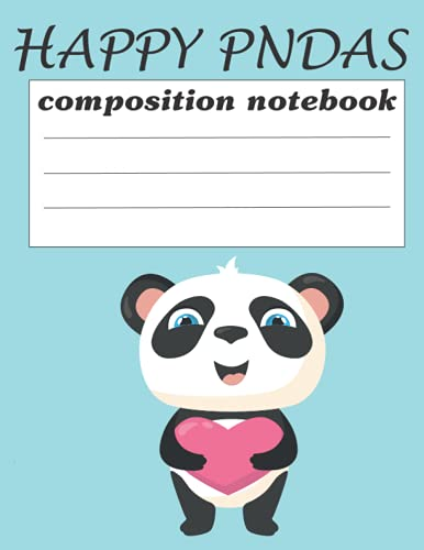 happy panda notebook for girl: panda notebook and journals