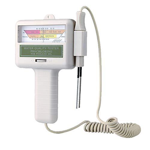 ph messgerät Kecheer Wassertestgerät PH Chlor Messgerät,2 in 1 PH-Chlor-Messgerät Tester PC-101 PH-Tester Chlorwasser-Qualitätsprüfgerät CL2 Messung für Pool-Aquarium