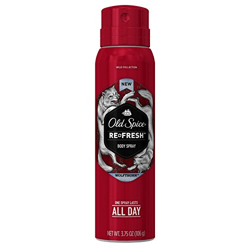Old Spice Wild Collection Re-Fresh Deodorant Body Spray, Wolfthorn 3.75 oz (Pack of 3)