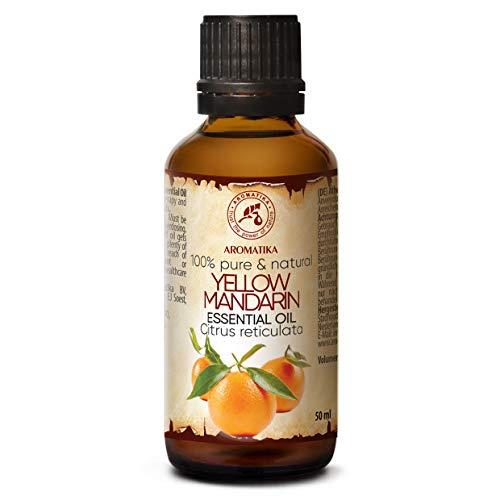 Aceite Esencial de Mandarina - 50ml - Citrus Reticulata - Aceites Esenciales para Difusor - Buen Olor - Relajación - Cuidado Piel - Cabello - Humidificador Aceites Esenciales