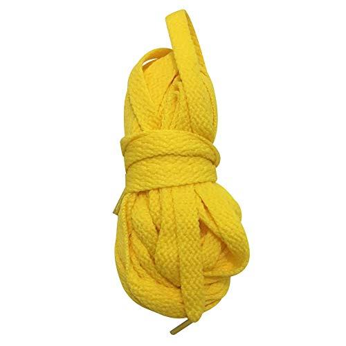 Anufer Kniehohe Schnürstiefel für Mädchen und Damen, Leinenstiefel, Weiß / Schwarz, Reißverschluss, Gelb (Schnürsenkel, gelb, 3,7 m), Einheitsgröße