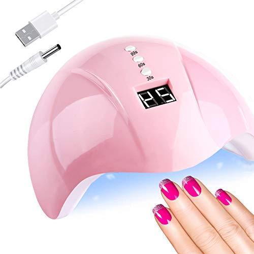 UV Nagellampe, 36W Nageltrockner für Gel Nagellack, LED Lampe für Gelnägel, Geeignet für alle Gel, Professionelle Nagellampe in Salonqualität, Nagelwerkzeuge für Fingernagel und Zehennagel