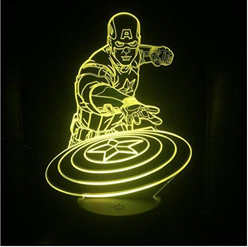 Halloween Amerika 3D Lampe Illusion Nachtlicht LED Birne Multicolor Neuheit Kreatives Geschenk für Kind Kinder Schlafzimmer Nacht Geschenk