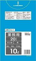 【5ケース特価】HHJ 業務用 ポリ袋 小型 10L 青 0.025mm×450×500 1200枚×5ケース 20枚×60冊入×5 GL11