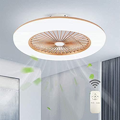 H.W.S Deckenventilator Mit Beleuchtung LED Fan Deckenleuchte Einstellbare 3 Windgeschwindigkeit Dimmbar Mit Fernbedienung 36W Moderne Für Schlafzimmer Wohnzimmer Esszimmer,Gold