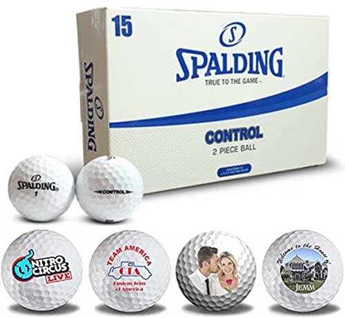 Bolas de Golf Personalizadas | Pon tu Nombre, Foto, o Marca en la Mejor Bola de Golf al Mejor Precio | Un Producto único para Regalar e impresionar | (Spalding Control)
