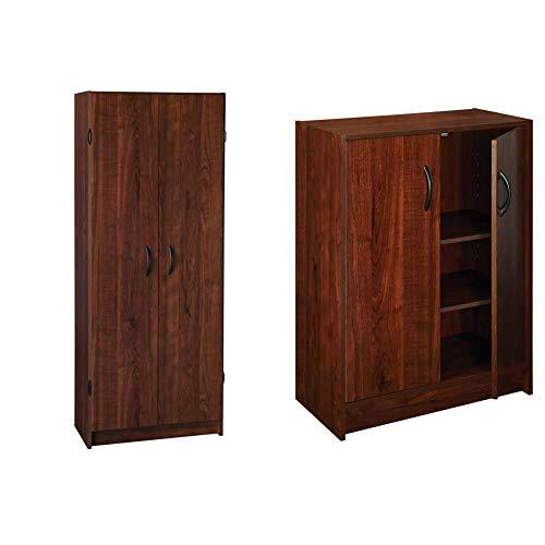ClosetMaid 1308 Pantry Cabinet, Dark Cherry & ClosetMaid, Dark Cherry 1307 Stackable 2-Door Organizer