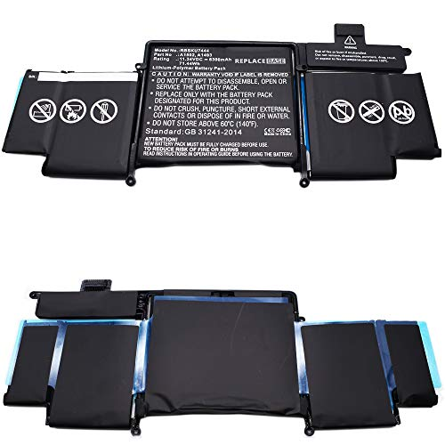 Compatible With MacBook Pro 13' Retina A1502 2013 - Replacebase Replacement Battery A1493 6300mAh 11.34V 6300mAh