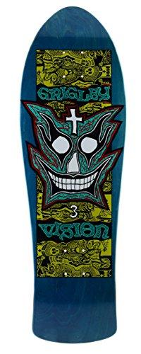 Vision grigley III Neuauflage Skateboard Deck 24,8x 78,7cm, BD0V3-blue, blau, 9.75 x 31-Inch