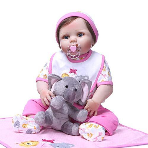 Dytxe-doll Muñecos Reborn, Bebe Reborn Juguettos, Muñeca La Moda del Renacimiento De Los 57Cm, Hermoso Regalo para Niños,B