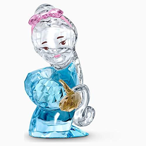Swarovski Blue / Beige Crystal Ornament 6 x 3.1 x 3.1 cm