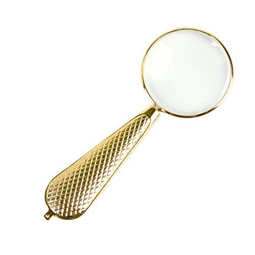 Gloednieuw, hoge kwaliteit, Lezen Vergrootglas Optische Lens 3X Hd Rechthoekige Krant Ouderen Kinderen Draagbare Mini Stempel Identificatie Handheld Vergrootglas, Goud 11,2 X 4,2 cm HD Draagbaar 11.2*4.2cm Goud
