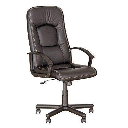 Chaise-Expert - Sedia da ufficio professionale Clasic, sedia direzionale, girevole, altezza di seduta 39-48 cm, tessuto nero
