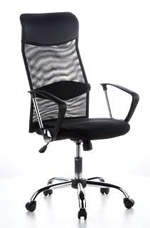 hjh OFFICE 621100 silla de oficina ARIA HIGH tejido de malla / piel sintética negro con reposabrazos inclinable silla de escritorio (B004G95IN0) | Amazon price tracker / tracking, Amazon price history charts, Amazon price watches, Amazon price drop alerts