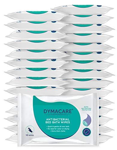 DYMACARE salviette antibatteriche il bagno DYMACARE|Disinfezione pelle senza risciacquo | panni disinfettanti corpo adulti | salviette umidificate antibatteriche corpo, mani, viso (set 30 confezion)