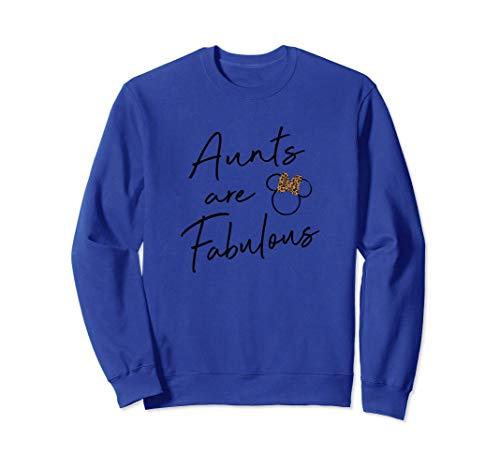 Disney Minnie Mouse Aunts Are Fabulous Cheetah Print Bow Sudadera