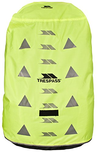 Trespass Sulcata, Yellow, Waterproof Reflective Rucksack Rain Cover, Yellow