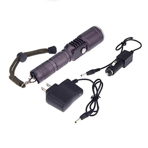 1 Pack 2000 Lumens 3 Mode XML T6 LED Flashlight w/AC Car Charger Waterproof Tactical Torch Grand Popular Quick Coast High Lumen Brightest Light Holder Camping Flashlights