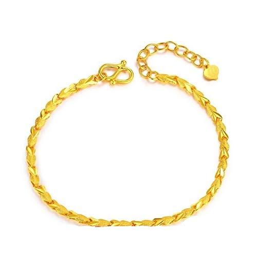 KnSam Armband Gold 750 Armband Gold Echt 750 Gelb Gold 17cm Bis 23cm Verstellbar Nähende Herz Sandstrahlen Polieren Gold Armband