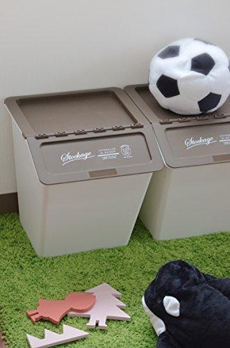 シービージャパン収納ボックスレッドふた付きゴミ箱38Lスタックバケットlettre