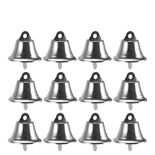Amosfun 24 stücke Handwerk Glocken Jingle Bells Mini kleine Glocken Silber windspiele Glocken Vintage Eisen Glocken Weihnachten DIY Handwerk windspiele Machen