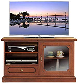 Mobile Porta tv per apparecchi di grandi dimensioni con antina a vetrinetta e cassetto