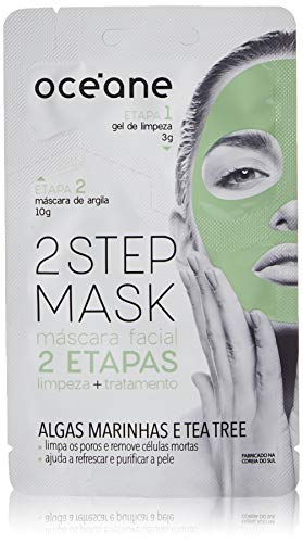Máscara Facial 2 Etapas Dual-Step Mask Tea Tree, Océane, Branco Claro