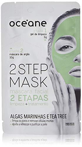 Máscara Facial 2 Etapas Dual-Step Mask Tea Tree, Océane, Branco Claro