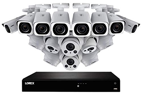Review 4K Nocturnal IP NVR System with 16 Outdoor 4K (8MP) IP Metal 4X Optical Zoom Cameras, 8 Audio...