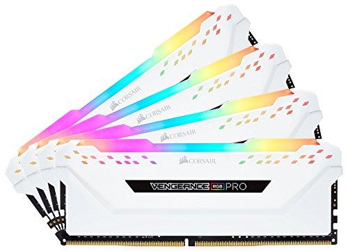Corsair Vengeance RGB PRO 32 GB (4x8 GB) DDR4 3200MHz C16 XMP 2.0 Kit di Memoria Illuminato RGB LED Entusiasta, Bianca