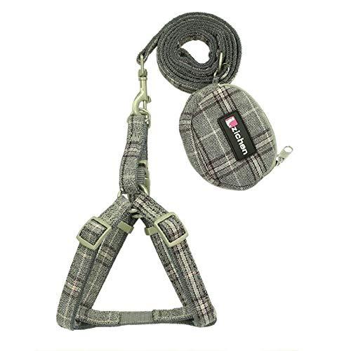 VIUNCE huisdier Leash Rope huisdier hond Restraint met geruite dikke dubbele nylon kleine portemonnee hond Restraint huisdier Leash voor dagelijks wandelen S-M huisdier touw