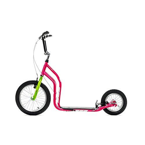 Yedoo CITY Monopattino - Scooter - NEW Model 2014 (Magenta-Verde)