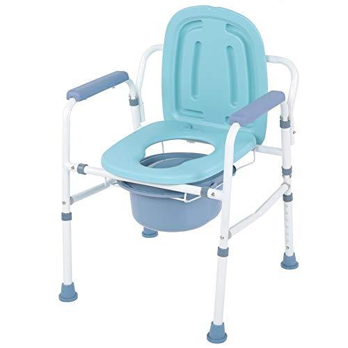 Zoternen Silla de Habitación con Inodoro Plegable Carga 290KG Antideslizante Silla de WC con Reposabrazos Altura Ajustable para Ancianos, Mujeres Embarazadas