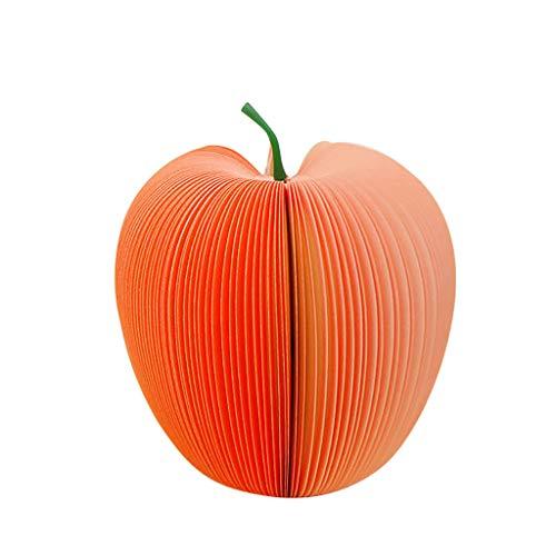 TIREOW Klebezettel Haftnotizblock Apfel Birne Notizzettel, Kreativ Lustig DIY Obst Haftmarker Abreissblock Scratch Papier Memo Pads für Schule Büro Kinder Geschenk (Rot)