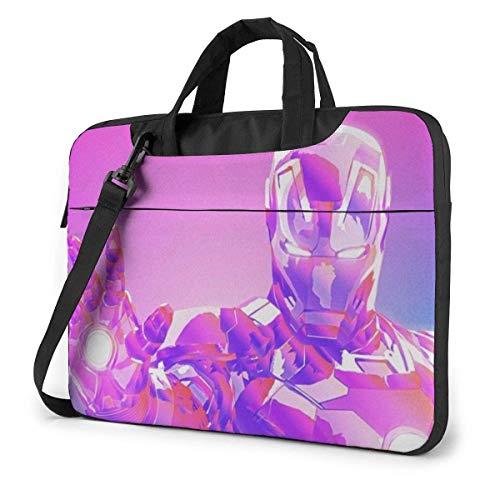 15.6 inch Laptop Shoulder Briefcase Messenger Ir-on Man Co-lor-ful Tablet Bussiness Carrying Handbag Case Sleeve