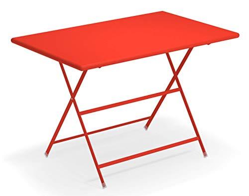 Emu Arc en Ciel Table rectangulaire Pliant cm. 110x70 Art. 331 Code Couleur RougeE Écarlate Cod. 50