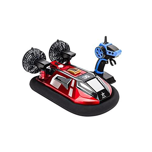 水陸両用 RC ボート ホバークラフト 子供と大人用 2.4Ghz 高速防水 RC ボート レーシング おもちゃ プール レイク用 レッド