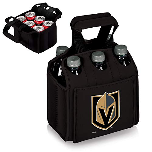 PICNIC TIME NHL Vegas Golden Knights Six Pack Insulated Neoprene Beverage Tote