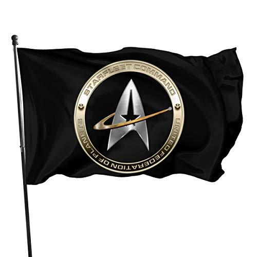 FTflag Outdoorflagge 3x152 cm Walter Margaret Hittings Neva Star Trek 50 Dekorative Flagge für Hinterhof, Zuhause, Party, Polyester, Schwarz, Einheitsgröße