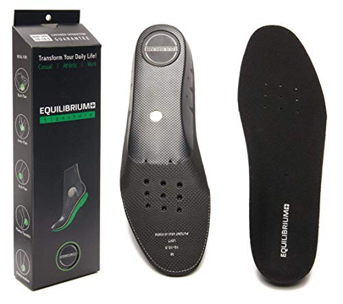 Equilibrium+ Orthotic Plantar Fasciitis Arch and Balance Support Shoe Insoles for Men and Women Best Comfortable Inserts Relieving Foot, Arch,and Knee Pain,for Running,Walking,Sports (Men's/10-10.5)