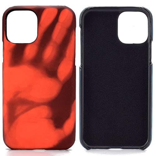 Wdckxy - Carcasa protectora para iPhone 11 Pro Max (con sensor térmico, color rojo se vuelve amarillo)